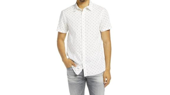 Scotch & Soda Classic Fit Short-Sleeve Button-Up Shirt