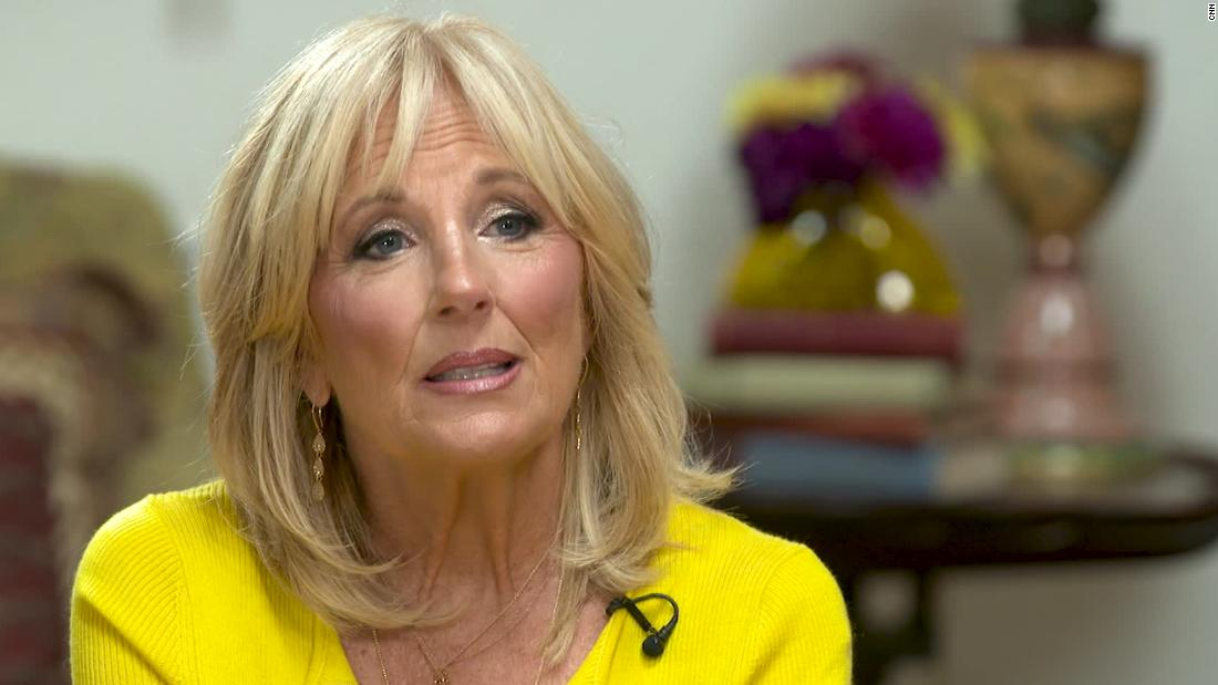 Jill Biden reacts to Trump attacks