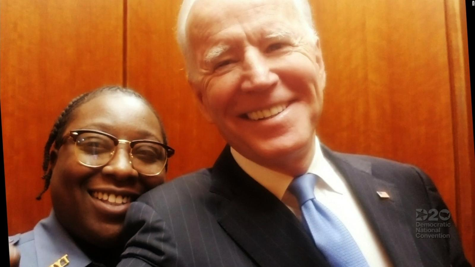 Security guard who met Joe Biden in elevator gives first nominating speech  at convention - CNNPolitics