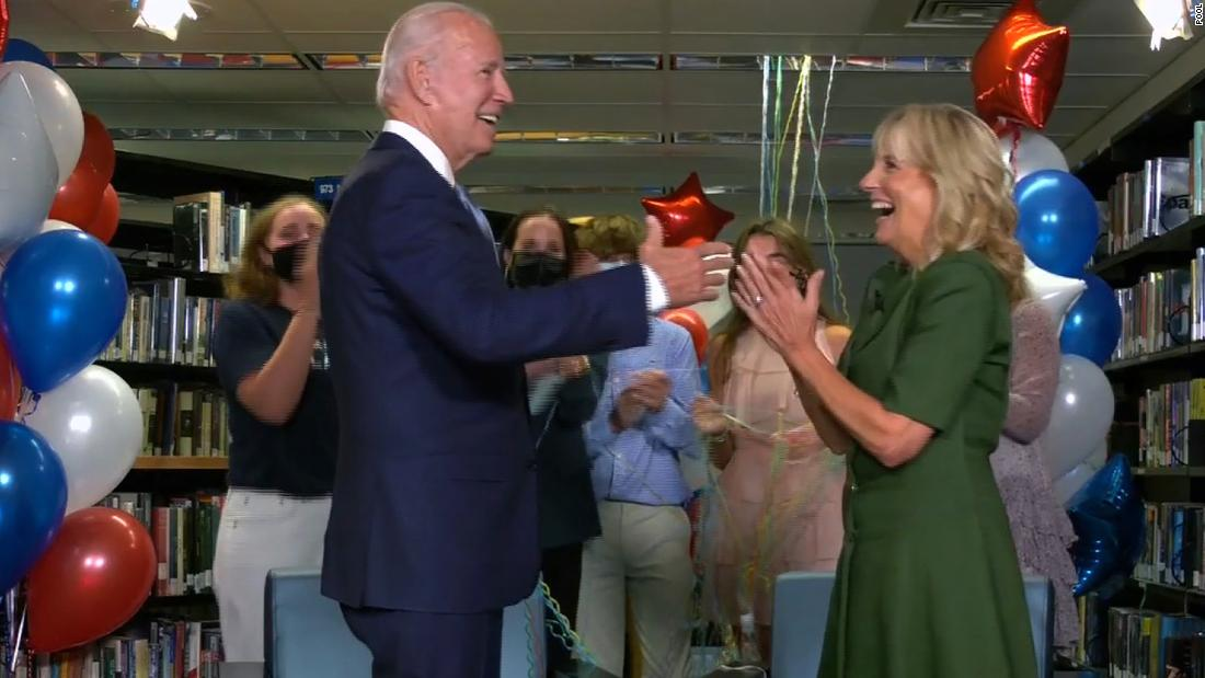 Jill Biden tells America Joe Biden can heal a divided country as he formally becomes the Democratic presidential nominee