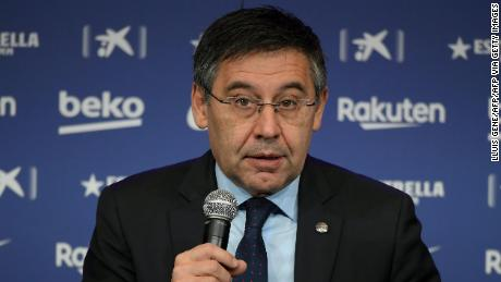 """Bartomeu has insisted that Barcelona's crisis is a """"sporting"""" one."""