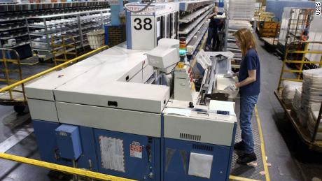 The judge ordered the USPS to take 'extraordinary measures' when the processing of the vote drops in key states