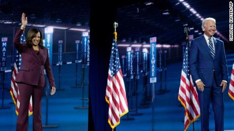 Joe Biden Joins Kamala Harris On Stage After Historic Dnc Moment Cnn Video