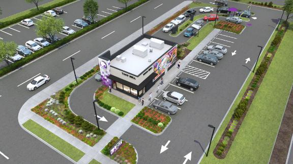 A rendering of Taco Bell's new restaurant model.