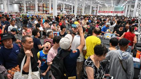 The first Costco in China was packed on opening day in Shanghai last year.