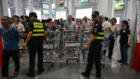 Crowds were massive at Costco's opening in Shanghai last year.