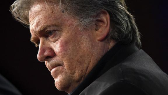 Bannon is seen at the Conservative Political Action Conference in February 2017 in Washington, D.C.