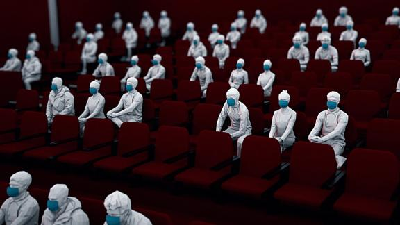 Movie theaters chains are expected to require masks and limit capacity during the pandemic.