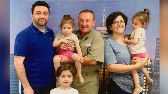 Vahe Andonian in custody. Taken with family members.