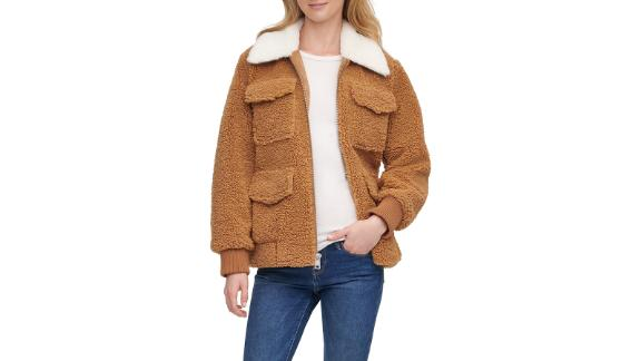 Levi's Faux Fur Collar Fleece Jacket