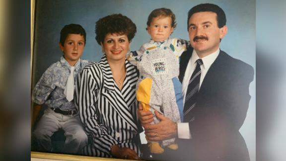 A family portrait of Vahe Andonian prior to his imprisonment.