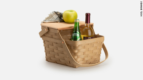Longaberger baskets were coveted picnic baskets that were handmade using strips of maple wood.
