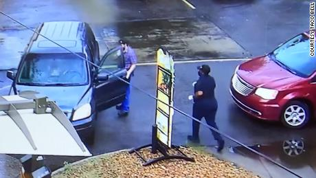 A Taco Bell employee saved a man's life after he passed out in the drive-thru
