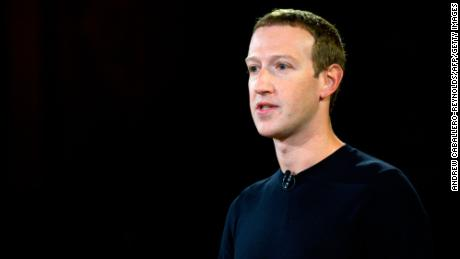 """Facebook founder Mark Zuckerberg speaks at Georgetown University in a 'Conversation on Free Expression"""" in Washington, DC on October 17, 2019."""