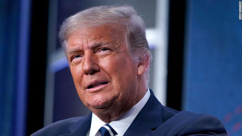 Presiden Donald Trump berbicara kepada Council for National Policy Meeting 2020, Jumat, 21 Agustus 2020, di Arlington, Va.
