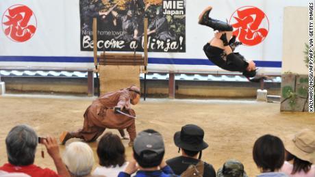 Le musée Iga-ryu Jinja propose des démonstrations et des spectacles de ninja, photographiés ici en juin 2012.