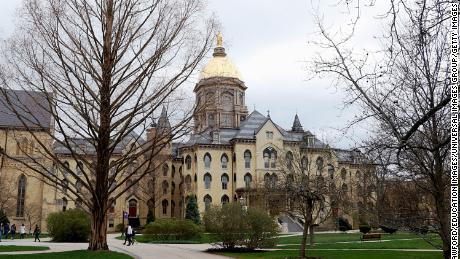 The University of Notre Dame in South Bend, Indiana.