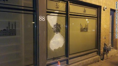 Masjid Toronto's location on Adelaide Street was vandalized on Sunday for the third time in three weeks, according to the Muslim Association of Canada.
