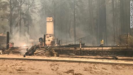 The CZU Lightning Complex Fire damaged or destroyed several structures.