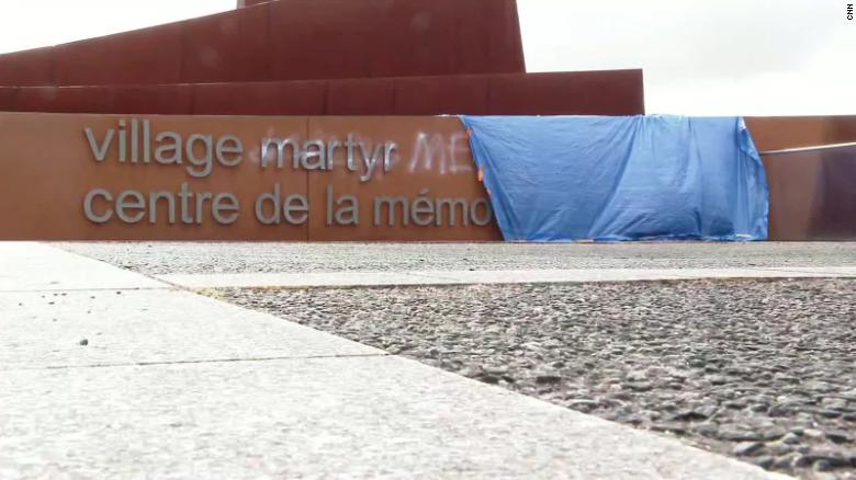 Graffiti denying the holocaust has been found at a memorial center in a village in central France, according to the mayor of Oradour-sur-Glane, Philippe Lacroix.