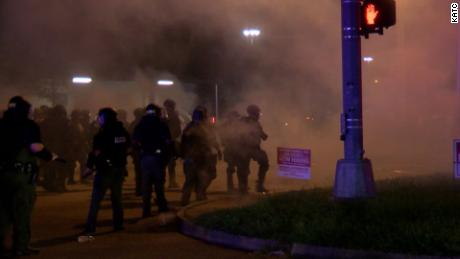 Police clash with protesters in Lafayette, Louisiana after police fatally shoot 31-year-old Black man
