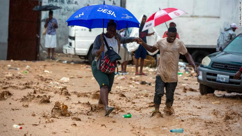 Tropical Storm Laura struck Port-au-Prince, Haiti, over the weekend and is headed to the US Gulf Coast.