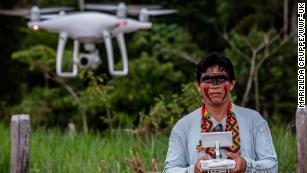 Amazon tribes are using drones to track deforestation in the Brazilian rainforest