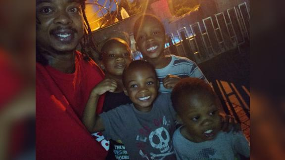 The attorney for Jacob Blake, Ben Crump, sent the following photo to Sara Sidner.  Crump confirmed to Sara via text that it's a photo of Blake and his four sons.  We do not know whether any of these boys were in the vehicle when Blake was shot and should not imply any of them were