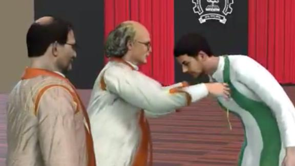 LIVE from #IITBombay Virtual Convocation: President of India's Medal for 2020 goes to Sahil Hiral Shah, http://B.Tech in Computer Science & Engineering Check out virtual avatar of the student receiving medal from Chief Guest and Nobel laureate Prof. @FDuncanMHaldane