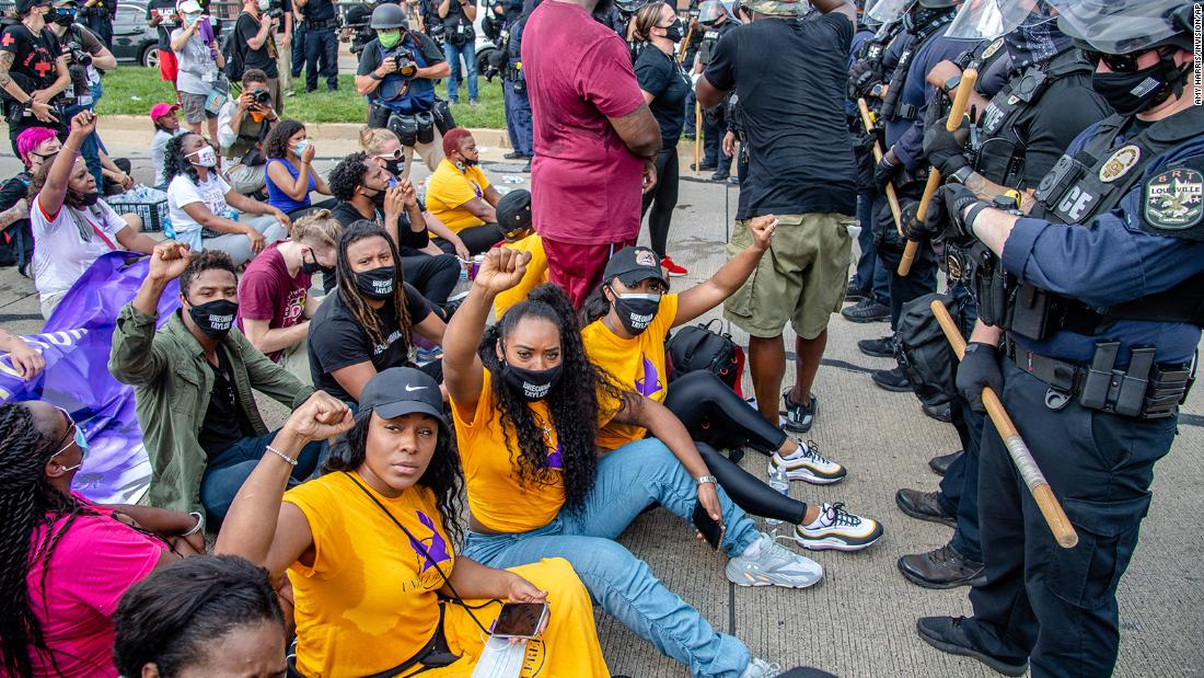 At least 68 arrested in Louisville as protesters demand answers in Breonna Taylor case – CNN