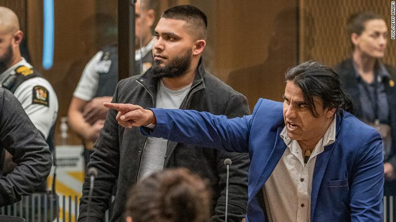 Abdul Aziz Wahabzadah during Brenton Tarrant's sentencing on August 26, 2020 in Christchurch, New Zealand.