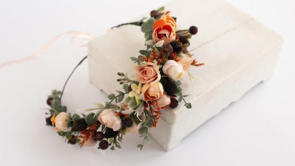 LisaUaShop Rustic Flower Crown