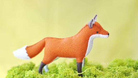 DelilahIris Stuffed Fox Felt Animal Kit