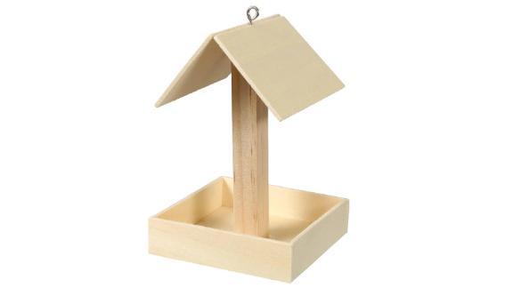 AVA ArtsSupplies Wood Bird Feeder Craft Kit