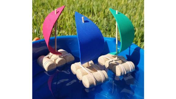 InkAndTrinketKids Cork Boats, 3-Pack