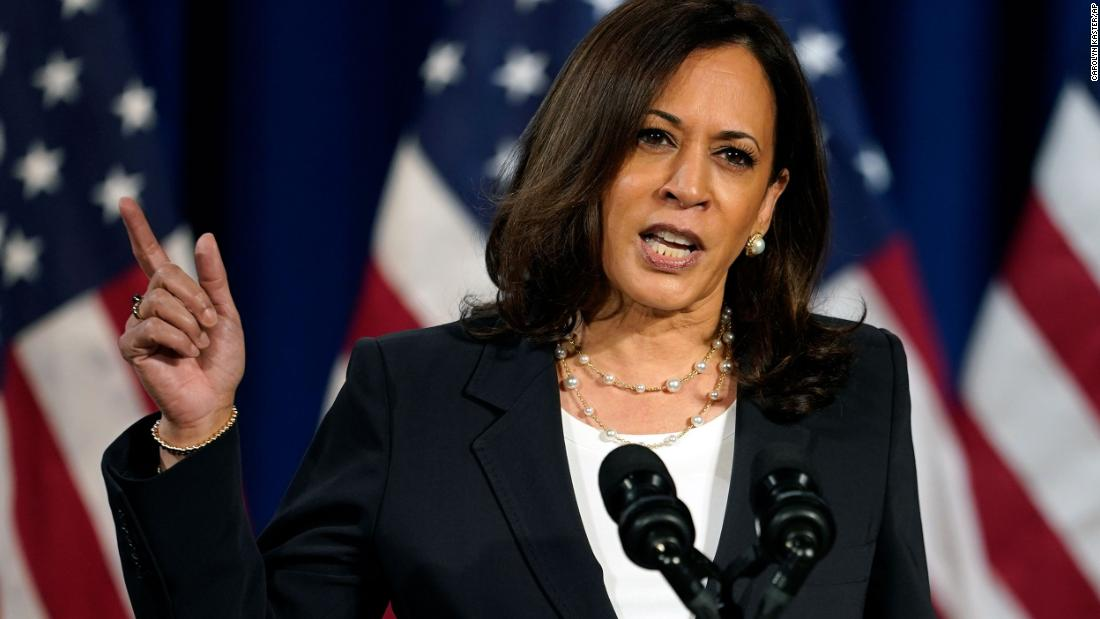 'I will not take his word for it': Kamala Harris says she would not trust Trump alone on a coronavirus vaccine – CNN
