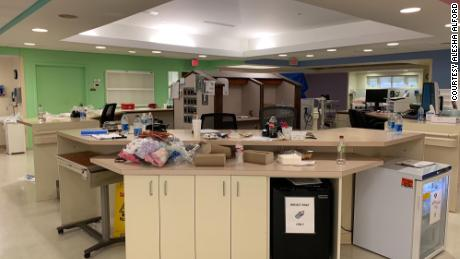 Hospital staff cleared out the NICU and transfered patients in two hours.