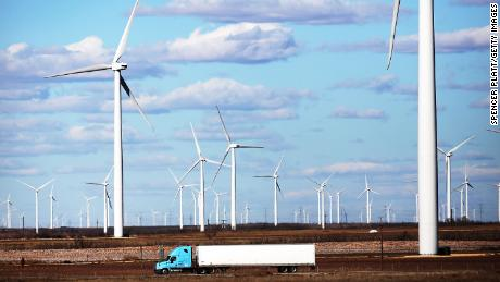 Wind farms, such as these turbines seen in Colorado City in 2016, are providing clean energy to parts of Texas.