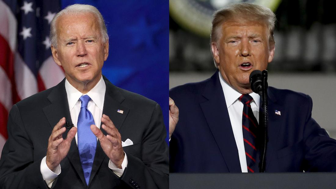 Trump mocks Biden's coronavirus precautions in dueling Florida rallies