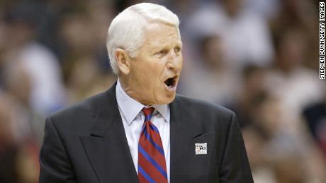 Head coach Lute Olson of Arizona during the men's Pacific 10 Tournament championship game in 2002.