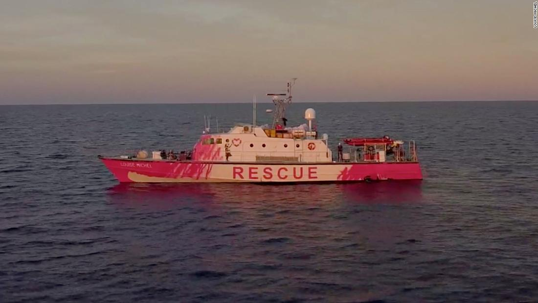 Banksy has bought a working refugee rescue boat (and sprayed it bright pink)