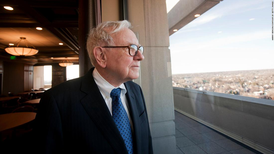 Buffett looks out at Omaha in 2012.