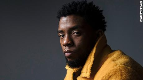 "In this Feb. 14, 2018 photo, actor Chadwick Boseman poses for a portrait in New York to promote his film, ""Black Panther."" Boseman, who played Black icons Jackie Robinson and James Brown before finding fame as the regal Black Panther in the Marvel cinematic universe, has died of cancer. His representative says Boseman died Friday, Aug. 28, 2020 in Los Angeles after a four-year battle with colon cancer. He was 43."