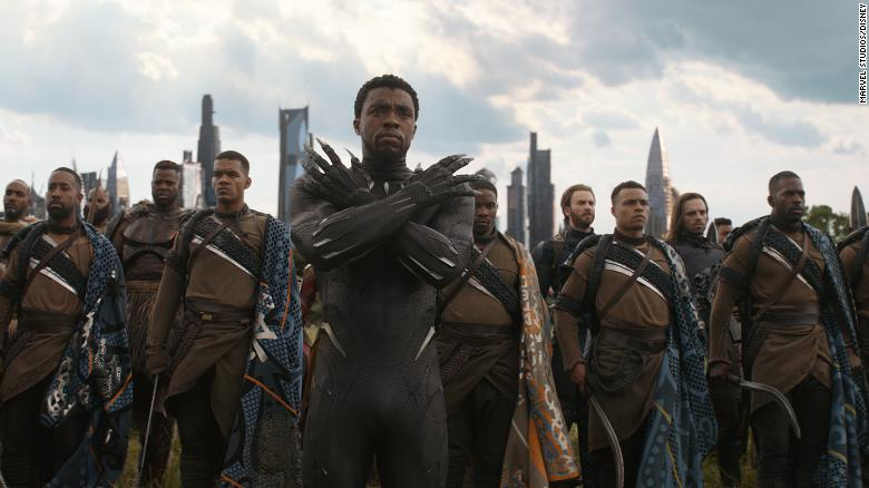 "Chadwick Boseman is shown as T'Challa in ""Black Panther."""