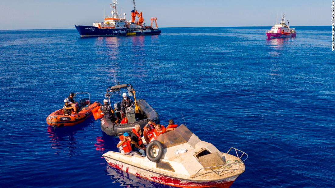 Banksy-funded rescue boat needs 'immediate assistance' after taking 219 migrants onboard – CNN