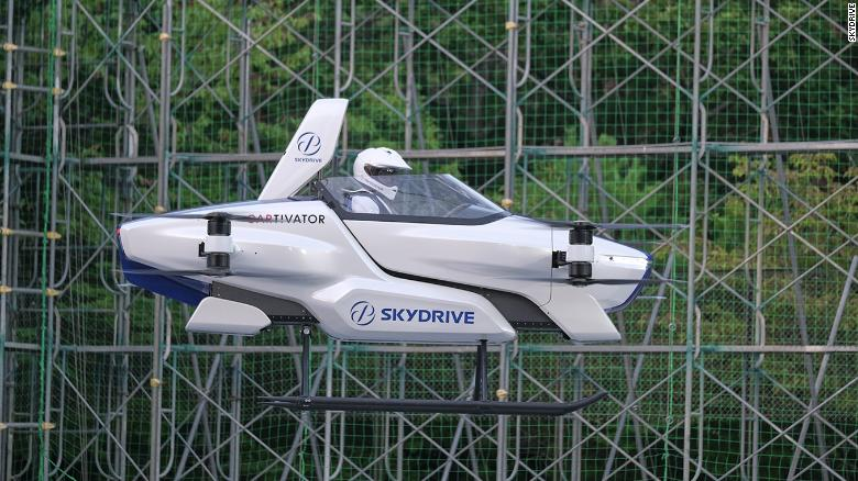 A Japanese company announce the successful test of a manned flying car