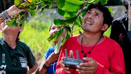 Awapy Uru Eu Wau Wau is one of a group of indigenous people who use drones to monitor deforestation on their land in the Brazilian Amazon.