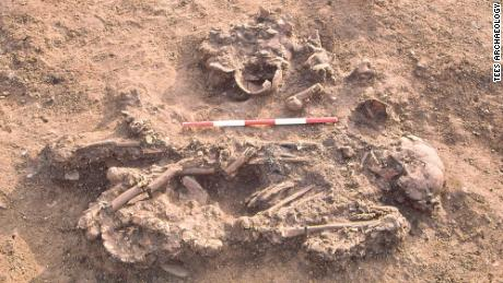 A Bronze Age woman was found buried in Stockton-on-Tees, England, along with the bones of three people who had died between 60 and 170 years after she had.