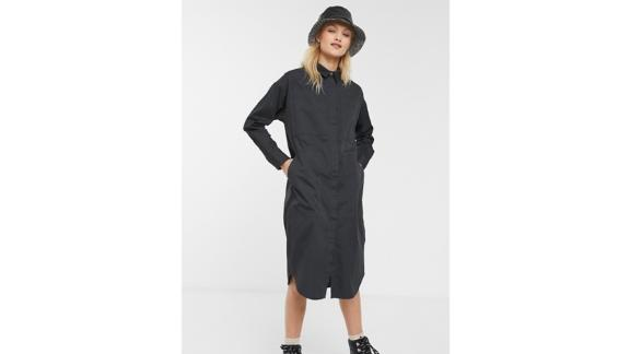 Monki Oversized Shirt Dress With Utility Pockets