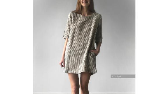LenokLinencom Washed Linen Dress With Pockets